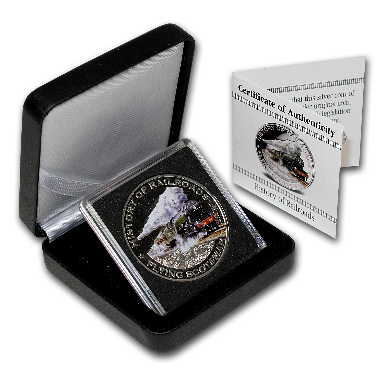 2011 Liberia Silver $5 Flying Scotsman Proof